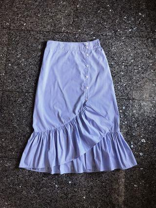 ZARA stripe flare skirt