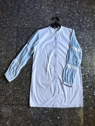 #BAPAU Duma dusty blue shirt dress