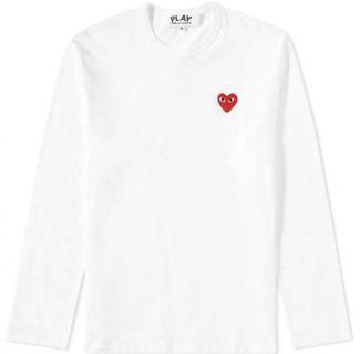 [AUTHENTIC] CDG PLAY Men's Red Heart Emblem T-shirt