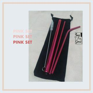 Stainless Straw Set New Colour