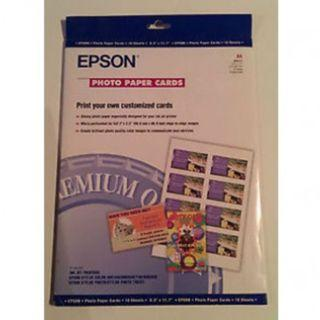 [CLEARANCE] EPSON S041177 PHOTO PAPER CARD (10 Sheets)