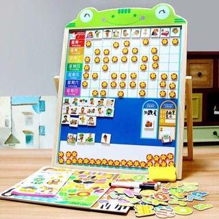 Hot 🔥 1-6 years old kids learning educational toy 🧲 reward chart + whiteboard