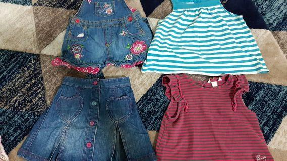 Baby girls branded apparel (4pcs)