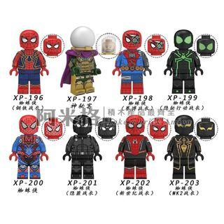 阿米格Amigo│XP196-203 一套8款 蜘蛛俠 神秘客 蜘蛛俠4 決戰千里 Spider Man 蜘蛛人 超級英雄 積木 第三方人仔 非樂高但相容 滿30隻包郵