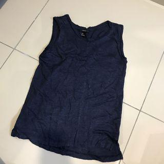 2 for rm20 - Forever21 Navy Blue Top S