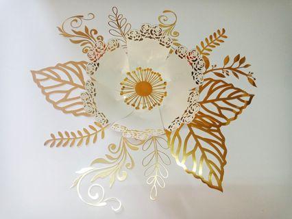 Paper flowers lace