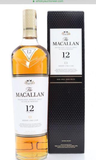 🚚 Macallan 12 sherry cask 2018