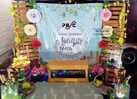 Photobooth backdrop pallet flower
