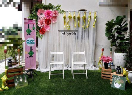 Photobooth backdrop flower