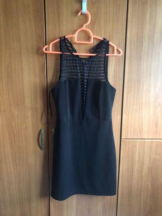 See Through Black Lace Dress