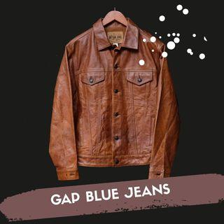 Jaket Gap Blue Jeans Leather Original Made in India