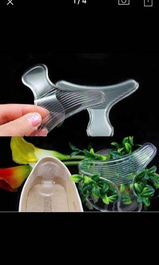 Silicone T-shape Back anti-friction Gel Cushion Pads Foot Protector Insole Shoes Grip