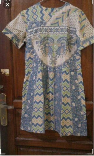 Mididress batik hijau