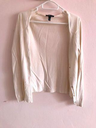 Mango basics cream white cardigan