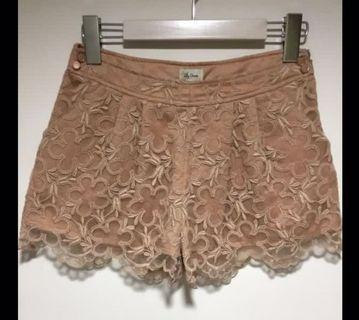 🚚 Lily Brown 摩卡奶茶色 A line 短褲