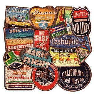 36 張復古行李箱貼紙 Luggage stickers suitcase stickers