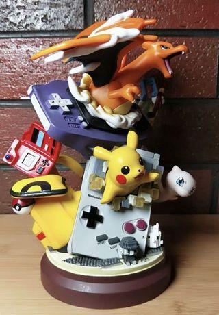 竉物小精靈比卡超 Pokemon 噴火龍比卡超夢夢遊戲機 場景擺件