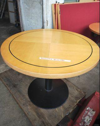Solid Wood Round Dining Table with Metal Base @$ 80 each