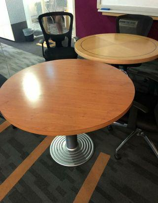 🚚 Wooden Top Round Dining Table with Metal Leg @$ 80 each