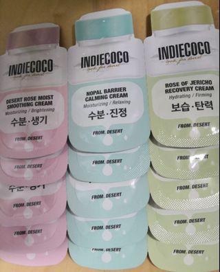 韓國Dream Skin旗下副線Indiecoco沙漠薔薇、仙人掌及含生草面霜 sample/旅行裝