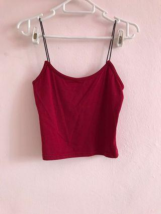 Basic red spag top