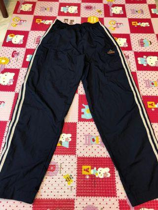 Adidas Men sportswear navy blue size M🌸Adidas男裝長運動褲 深藍色 側邊啪鈕