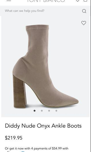 Tony Bianco Diddy nude boots