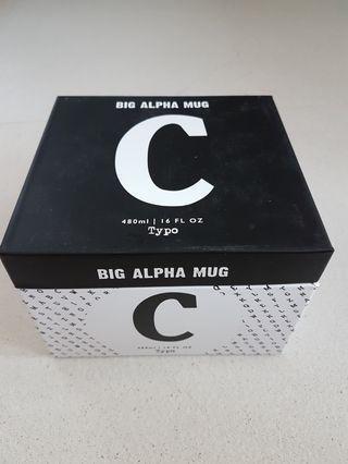 🚚 Typo Big Alpha Mug Letter C