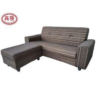 L' SOFA / L Shape SoFa / 3 Seater + 1 Stool / Fabric SoFa