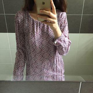 H&M Printed Purple Shirt