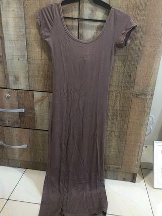 Lowback Brown Maxi Dress