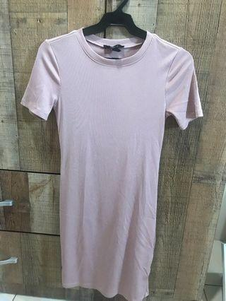 Forever21 Pale Pink Bodycon Dress