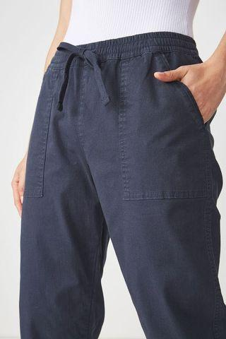 cotton on rolled hem cuffed chinos in navy