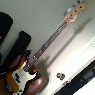 日廠squier by fender p bass 貝斯 dimarzio拾音器 Japan made