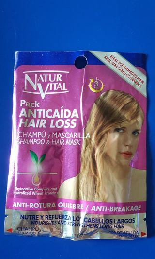NaturVital Pack : Hair Loss Shampoo & Hair Mask