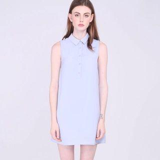 RWB Runway Bandits Frans Dress In Periwinkle Sky Blue