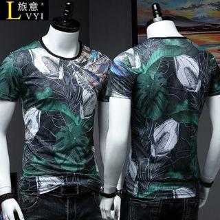 🚚 Men Tshirt Short Sleeve Ice Silk Soft Elastic Cooling 638