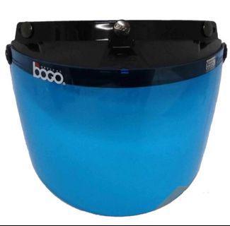 Blue Helmet Visor
