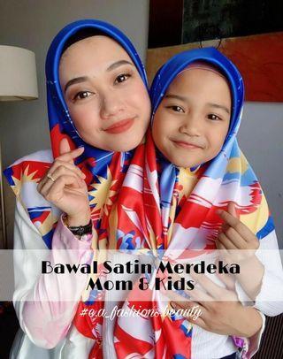Bawal Satin Merdeka (Dewasa/Kids)