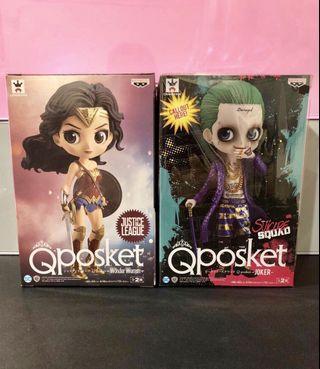 Banpresto Qposket q posket DC 系列 自殺特攻隊 figures Woman 神奇女俠 & Joker 小丑仔 B色 特別色 一對
