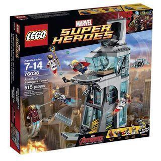 (最後一盒已絕版)Lego Marvel Superhero 76038