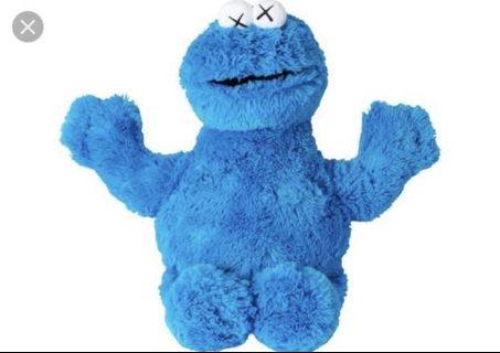 KAWS uniqlo cookie monster stuff toy