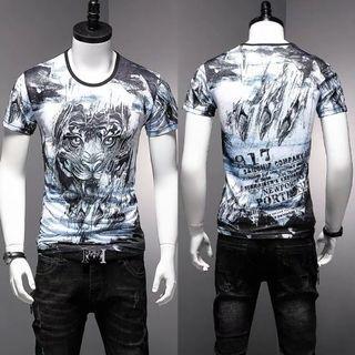 🚚 Men Tshirt Short Sleeve Ice Silk Soft Elastic Cooling 681