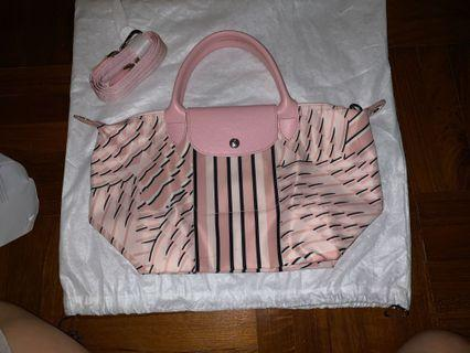AUTHENTIC BRAND NEW LONGCHAMP  LE PLIAGE PASTEL PINK TOP-HANDLE S CROSSBODY BAG