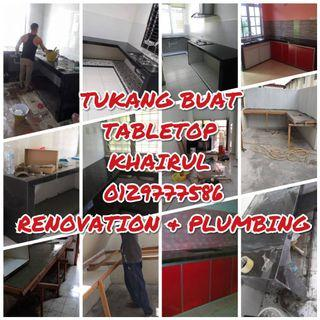 TUKANG BUAT TABLE TOP CHERAS KHAIRUL 0129777586