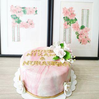 🚚 Customised engagement cake