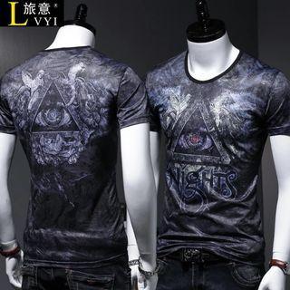 🚚 Men Tshirt Short Sleeve Ice Silk Soft Elastic Cooling 631