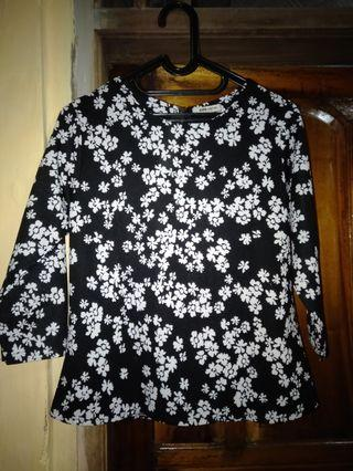 Baju bunga 3/4 all size