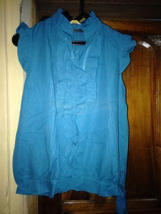 Baju lekton biru all size