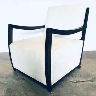 🚚 Solid Wood Armchair (Off White)